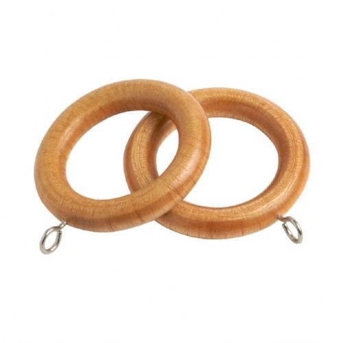 Speedy County 28mm Wooden Curtain Rings (Pack of 4) - Light Ash